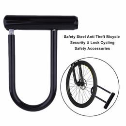 Bicycle U Locks Canada - Universal Bike Bicycle Cycling Steel Anti Theft Bicycle Perfect Security U Lock Cycling Safety Accessory + Mounting Bracket Key