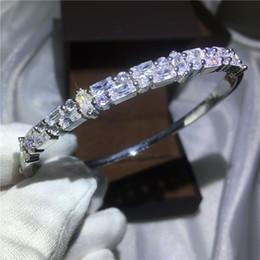 $enCountryForm.capitalKeyWord NZ - Simple Trendy bracelet T-shape Diamond S925 Silver Filled Party Engagement wedding Cuff bangle for women Gift