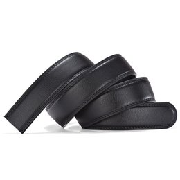 Chinese  Men Buttonless PU Leather Belt Pattern Light Luxury Business Casual Automatic Buckle 3.5CM Black Design Dropshipping 2018 manufacturers