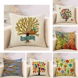 5981806a733c Simple Life Tree cushion pillow linen sofa pillowcase office pillow to map  custom Decorative Throw Pillows cushion covers pillow cover
