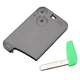 $enCountryForm.capitalKeyWord NZ - 2 Buttons Smart Key Card Shell Fit For RENAULT Laguna Car Key Blank Replacement Case with blade
