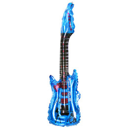 Inflatable guItar toys online shopping - 85 cm Inflatable Guitar Musical Instrument Toy Birthday Party Gift Colors