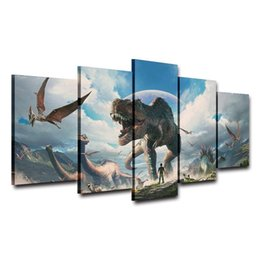 $enCountryForm.capitalKeyWord UK - 5 Panels Canvas Painting Home Decor Wall Art Park Dinosaurs HD Prints Animal Poster(Unframed Framed)
