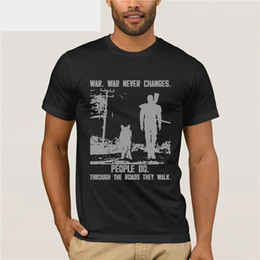 Pop Tees Australia - Original Fallout T Shirt For Mens Fallout Game Tee Shirt For Men New Arrival Summer Style T-Shirt Man Basic Solid Pop Top Tee