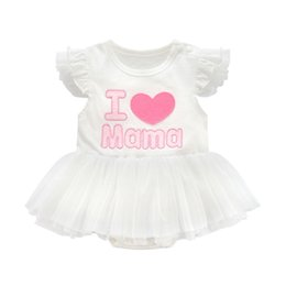 Discount mama girl clothes - Super sweet princess i love mama papa baby clothing tutu kids dresses for girls clothes white baby girl summer clothes i