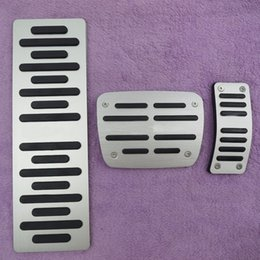 Brake Foot Rest Pedals Australia - DEE Car Accessory For A4 A5 A6 A7 A8 Q5 B6 B7 B8 C5 C6 AT Accelerator Brake Foot Rest Pedal Pad Plate Styling Stickers