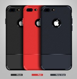 Discount carbon fibre cases for iphone - For iPhone 8 Plus iPhone x Case Back Cover Case Frosted Carbon Fibre Case for iPhone 7 7 Plus
