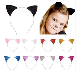 Glitter dress accessories online shopping - Cosplay Catwomen Headbands Adults Kids Glitter Cat Ears Halloween Fancy Dress Headband Christmas Costume Accessories Party Favors