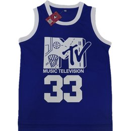 Discount music man - Will Smith #33 Jersey Music Television First Annual Rock N'Jock B-Ball Jam 1991 Men Blue Color Double Stiched Logos