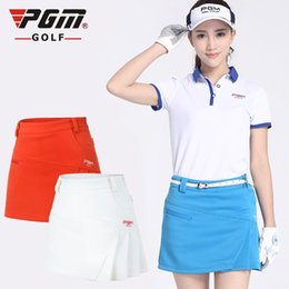 Discount ladies leisure clothing - PGM Lady Girls Golf Clothing Anti-light Golf Skirt Female Leisure Sport Skirt Solid Color Women Short Dress XS S M L XL
