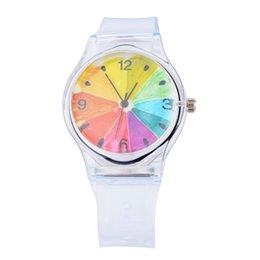 Able 2018 New Hot Transparent Clock Silicone Watches Women Novelty Crystal Ladies Cartoon Wrist Watches Dames Horloges Women's Watches