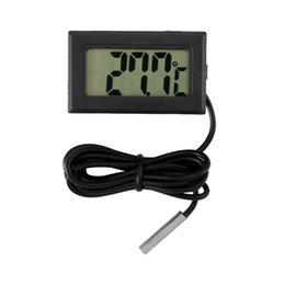 Probe Car UK - LCD Digital Thermometer Car Thermometer with Waterproof Probe Sensor -50 ~ 110C for Auto Home Fish Tank Water Temperature