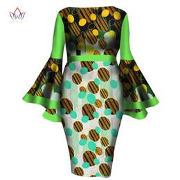 $enCountryForm.capitalKeyWord UK - African Women Dress 2018 New Summer Lady Print Wax Dresses Bazin Riche Mid-Calf Africa Sexy Speaker sleeves Dress WY1217