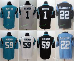 Carolina Panther Jersey Men 22 Christian McCaffrey 1 Cam Newton 59 Luke  Kuechly 13 Kelvin Benjamin 58 Thomas Davis Football Jerseys d0960992c