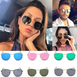 4f31fe7070d 2018 Mens Womens Ladies Retro Vintage Small Oval Flat Lense Sunglasses  Eyeglasses sunglasses men polarized mirrored zonnebril A8