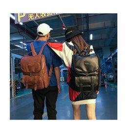 Pink Cell Phone Straps NZ - Direct Selling Pink Brown Korea Style Backpack Bags Pu Leather Shoulder Rucksacks Laptop New Arrival Fashion Handbag Adjustable Straps