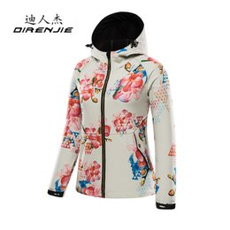 ladies softshell jacket 2018 - 2017 new lady prints soft shell jacket woman autumn winter outdoor sports hiking camping windproof warm clothing soft sh