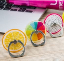 Acrylic tAblet stAnd online shopping - Cute Ring Phone Holder Cute fruits Doughnuts Acrylic Cellphone Stands for iPhone Samsung Tablet Degree Finger Holders