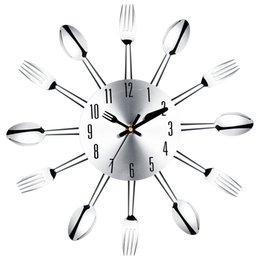 Lights & Lighting 1piece Kitchen Knife Fork Spoon Vinyl Record Wall Clock Modern Wall Lamp Restaurant Decor Cutlery Utensil Led Hanging Lamp