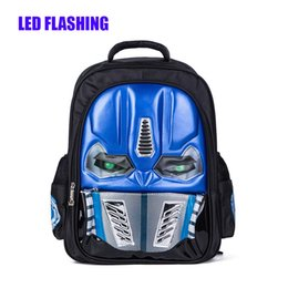 56ef7b380139 Cool Kids Backpacks For School Boys Canada - New Arrival LED Flashing Robot  Children Backpacks Cool