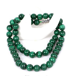 Malachite beads pendants online shopping - Real Malachite Necklace Lucky Green Beads Necklace Jade Jewelry Fine Jewelry