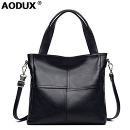 Lady Cowhide Handbags Australia - 100% Soft Genuine Leather Hot Women's Shopping Shoulder Bag Cowhide Leather Messenger Cross Body Bags Satchel Casual Handbags
