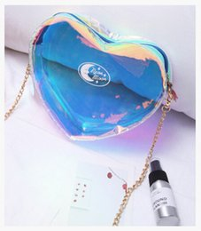 Coin bag korean online shopping - New style Summer laser chain Makeup tools lipstick or coin purse bag Single shoulder Mini Small bag Cosmetic Bag