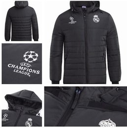 06db0f77e6a 2018 Real Madrid jacket Plus Thick MODRIC ASENSIO VINICIUS JR ISCO Long  Sleeve Soccer Thick Suit Zipper Tracksuit Black Winter Warm Hoodie