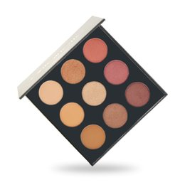 Chinese  Eyeshadow Palette with makeup brand antoinette Warm Neutral Eyeshadow Palette 9 Colors mixed Matte stain shimmer metallic pressed pigments manufacturers