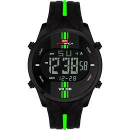$enCountryForm.capitalKeyWord NZ - KAT-WACH Digital Watch LED Back Light and Display Fashion Sports Metal Case Soft Silicone Strap Big number dial Horloges Mannen