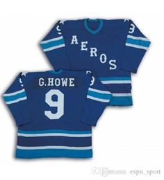 32ac68343 New Mens Womens Kids 15 Rickard Wallin 9 GHowe 10 Gord Labossiere AHL  Houston Aeros 100% Embroidery Custom Hockey Jerseys Goalit Cut