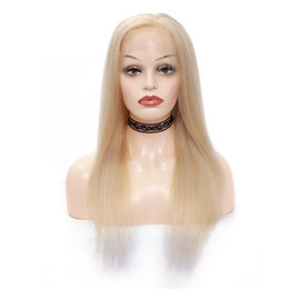 Chinese  Fashion cheap aaaaaa in stock 100% unprocessed remy virgin human hair long #613 silky straight full lace cap wig for women manufacturers
