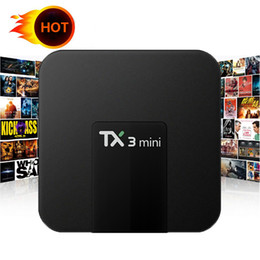 M8s Android Tv Boxes Australia - TX3 mini android 7.1 ott tv box with 1GB 8GB quad core S905W LED Screen display BETTER M8S PRO T95R