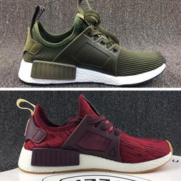 155773dcce947 2017 NMD XR1 Running Shoes Mastermind Japan Skull Fall Olive green Camo  Glitch Black White Blue zebra Pack men women sports shoes 36-45