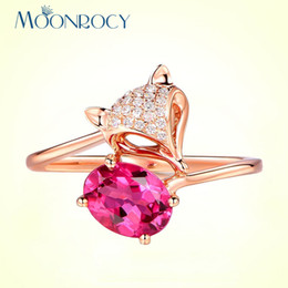 $enCountryForm.capitalKeyWord Australia - whole saleMOONROCY CZ Crystal Ring Red Animal Sexy Fox Rose Gold Color Party Rings Womens Jewelry for Women Gift Drop Shipping Wholesale
