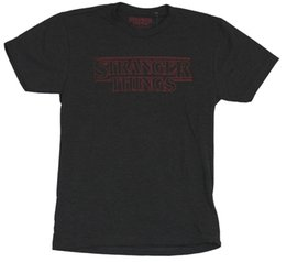 China Stranger Things Mens T-Shirt - Simple Red Outlined Word Logo suppliers