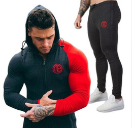 $enCountryForm.capitalKeyWord Australia - 2017 Gyms New tracksuit men pants Sets Fashion body engineers sweat suits brand heren kleding casual fitness Outwear jogger set