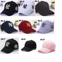 New NY Letter Hats Hip-hop Baseball Cap Adjustable Snapback Cap for Women  and Men more Colors Accept Mix Order   Drop Shipping 9f853fcbeba6