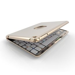 online shopping Aluminum Colors Backlit Bluetooth Keyboard Smart Folio Case For iPad mini A24 Drop Shipping