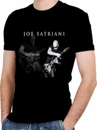 Black s guitar online shopping - Joe Satriani Guitar Black New T Shirt Rock T Shirt Rock Band Shirt Rock Tee Hipster Tees Summer Mens T Shirt