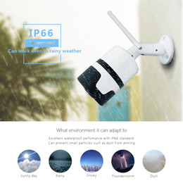 waterproof pan tilt Australia - IP Camera Wifi 360 Panoramic Security Outdoor Waterproof Infrared 3MP CCTV Cam Fisheye Bullet Cam