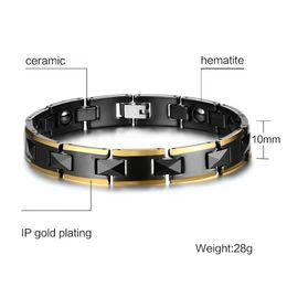 Hematite Jewelry Sets NZ - Valentine's day gift top quality 10mm ceramic hematite magnet bracelets magnetic bracelet fashion jewelry source factory supplier 016