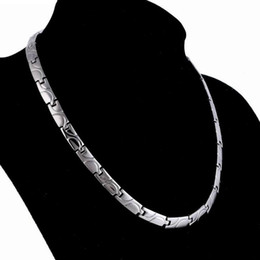 jewelry healthy necklace titanium steel magnetic energy necklace for men healthy hot fashion free of shipping on Sale