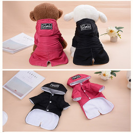chihuahua sweaters wholesale Australia - Pet Dog Hoodies Tide Brand Cute Teddy Puppy Apparel Autumn Winter Warm Christmas Clothing Outwears Small Dog Sweater Chihuahua Pet Outfits
