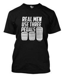 $enCountryForm.capitalKeyWord UK - Real Men Use Three Pedals Men's T-Shirt Mens 2018 fashionable Brand 100%cotton Hip Hop Tee Shirt