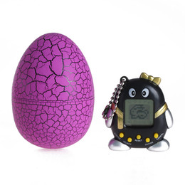 Wholesale 1Pcs New Tumbler E pet Funny Handheld Game Retro Machine Virtual Pets Tamagochi Toys Dinosaur Egg Digital ElectronicToys