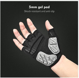 women s half slip NZ - Half Finger Cycling Gloves Anti Slip Gel Pad Breathable Motorcycle Road Bike Gloves Men Women Sports Bicycle Gloves S-XL