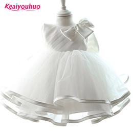 $enCountryForm.capitalKeyWord NZ - Children's girl dress New with big bow princess dress baby girl party dresses girl white muslin formal dress wedding ceremony