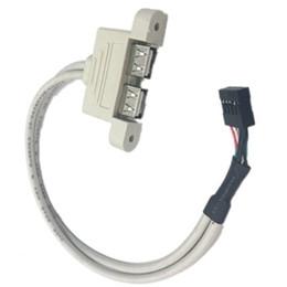$enCountryForm.capitalKeyWord UK - 9 Pin female USB header to Dual USB 2.0 Tyep A Female Cable Double deck USB2.0 Splitter Cable panel screws holes