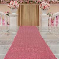 House Plates Australia - ShinyBeauty Sequin Aisle Runner 30feetx36-Inch Sequin Carpet Runner Hot Pink for Wedding Ceremony Burlap Table Runner Burlap Runners